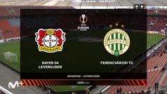 Europa League (J1): Resumen y goles del Leverkusen 2-1 Ferencvaros