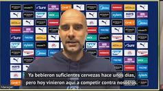 """Guardiola, sobre el Liverpool: """"Se habrán tomado unas cervezas pero venían a ganar"""""""