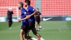 El Atlético realiza una intensa última sesión antes de recibir al Mallorca