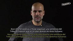 """Pep Guardiola: """"La sentencia es un ataque a los derechos humanos"""""""