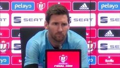 """Messi se molestó cuando le preguntaron por Griezmann: """"No opino"""""""