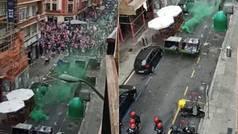 La previa de la final en Bilbao acaba con la intervención de la Ertzaintza