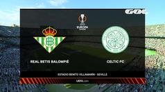 Europa League (J1): Resumen y goles del Betis 4-3 Celtic