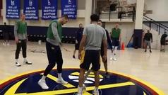 Juancho, Jokic y los Nuggets cambian el baloncesto por el fútbol