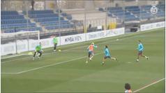 Benzema vuelve con el grupo y apunta al derbi