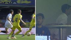 Marcelino y Parejo fueron expulsados y vieron el resto del partido juntos
