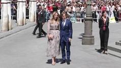 Los futbolistas del Madrid acompañan a Ramos en su boda con Pilar Rubio