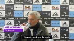 """Mourinho: """"¿La Champions? No quiero mirar la tabla"""""""