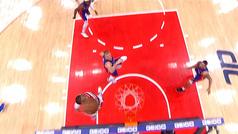 Westbrook y su mate, por encima de la canasta imposible de Curry