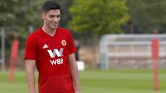 Raúl Jiménez ya entrena con su nuevo equipo, el Wolverhampton