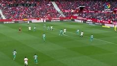 Gol de Promes (1-0) en el Sevilla 5-0 Rayo Vallecano
