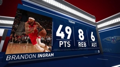 Brandon Ingram da la razón a LeBron y explota en la NBA: ¡49 puntos!
