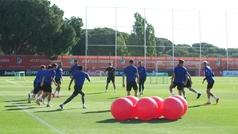 El Atlético vuelve al trabajo con una sesión física