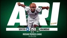 El espectacular doblete de Ari con el Krasnodar