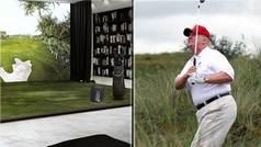 El simulador de golf de 50.000 dólares que Trump se ha instalado en la Casa Blanca