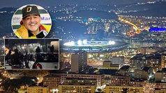 Estará sonriendo desde el cielo: el improvisado tributo a Maradona en el estadio de San Paolo