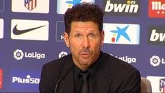"""Simeone: """"Los jugadores no tienen en el contrato jugar 90 minutos"""""""