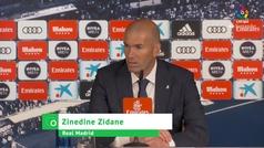 """Zidane: """"No me sorprende lo que ha hecho Benzema"""""""