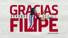 """El emotivo vídeo de Filipe para despedirse del Atleti: """"He sido un privilegiado en este club"""""""