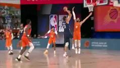 Ricky Rubio sufre el póster más gigante de la NBA: ¡No tenía ninguna opción de taponar!
