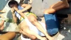 Una luchadora somete al hombre que la asaltó y le hace llorar de dolor