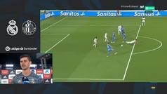"""El palo en caliente de Courtois al Getafe: """"Lo importante es no dejarte llevar por su juego"""""""