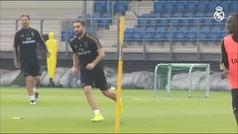 El Real Madrid entrena con todos los internacionales de vuelta del parón FIFA