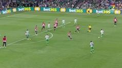 Gol de Bartra (1-2) en el Betis 2-2 Athletic