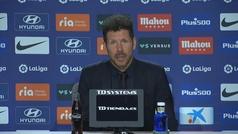 """Simeone: """"Fue emocionante escuchar a la gente fuera"""""""