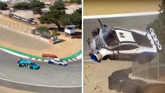¿Sin frenos en el Sacacorchos? Así fue el brutal accidente a 200 km/h en Laguna Seca