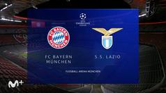 Champions League (1/8 vuelta): Resumen y goles del Bayern 2-1 Lazio