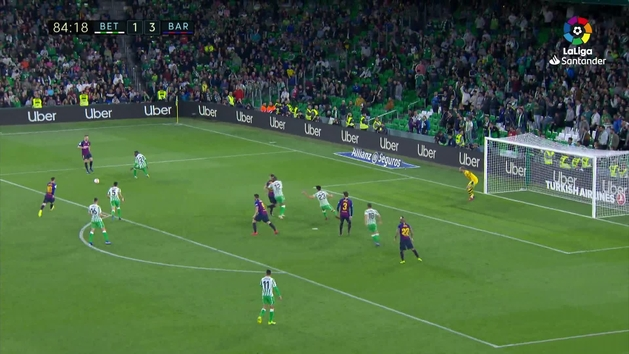 Gol de Messi (1-4) en el Betis 1-4 Barcelona
