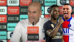 """Preguntan a Zidane por un cambio Mbappé-Vinícius: """"No me molesta"""""""