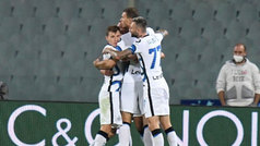 El Inter de Milán es líder momentáneo después de remontar en tres minutos a la Fiorentina