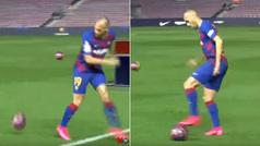 Braithwaite y el peor 'truco' futbolístico que se ha visto en una presentación