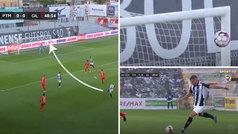Qué manera de volver el fútbol en Portugal: ¡alucinante golazo por la escuadra del Portimonense!