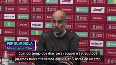 La discusión de Guardiola con un periodista tras la eliminación del City de la FA Cup