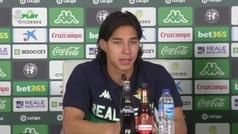 Diego Lainez, presentado como nuevo jugador del Betis