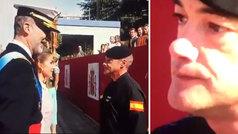 Las lágrimas del paracaidista accidentado al ser saludado por el Rey y la Reina