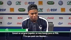 """Mbappé: """"Cavani y Neymar volverán a abrazarse"""""""