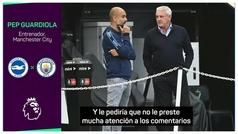 """El discurso de Guardiola para elogiar a Steve Bruce: """"Cuando llegué de Cataluña, otro país..."""""""