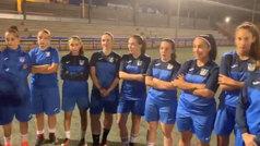 La genial reacción de las jugadoras del Leganés femenino al saber que jugarán en Butarque