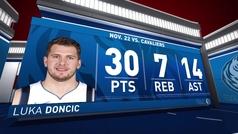 Luka Doncic no baja el ritmo: 30+7+14 y nuevo récord en la NBA