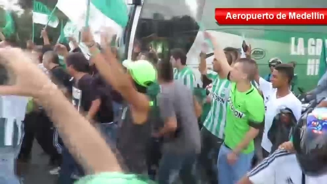 Atletico Nacional given rousing farewell by fans upon
