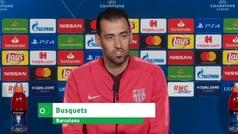 """Busquets: """"Tenemos mucho respeto por el Lyon, sabemos sus resultados contra PSG y City"""""""