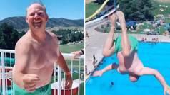 El abuelo clavadista que arrasa en Instagram: ¡tantos años de 'balconing' dan sus frutos!