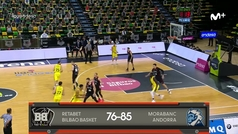 Liga ACB: Resumen Bilbao 76-85 Andorra