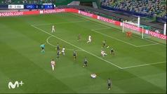 Gol de Haller (0-1) en el Sporting Portugal 1-5 Ajax