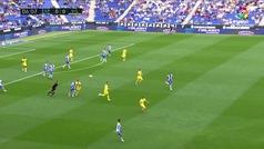 Gol de Hernán Pérez (1-0) en el Espanyol 3-1 Villarreal