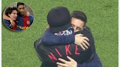 Dolerá al barcelonismo: dos leyendas culés, abrazados por el PSG